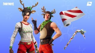 Fortnite new skins. Red nosed Ranger,Red nosed Raider,Candy axe - Candy cane wrap