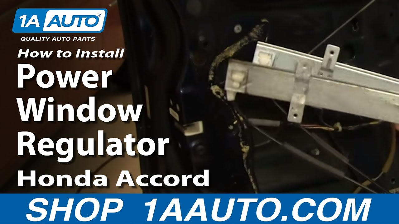 How To Install Repair Replace Power Window Regulator Honda Accord 98 Hvac Wiring Diagram For 2004 Lx 02 1aautocom Youtube