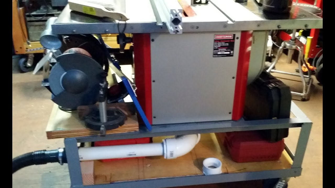 Table Saw Dust Collection System How To Youtube
