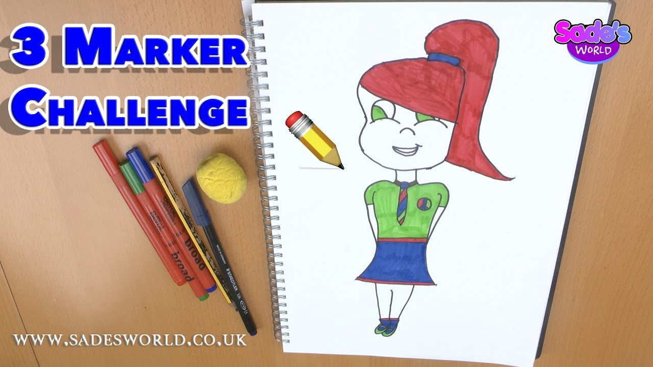 the three marker challenge  red green and blue berol