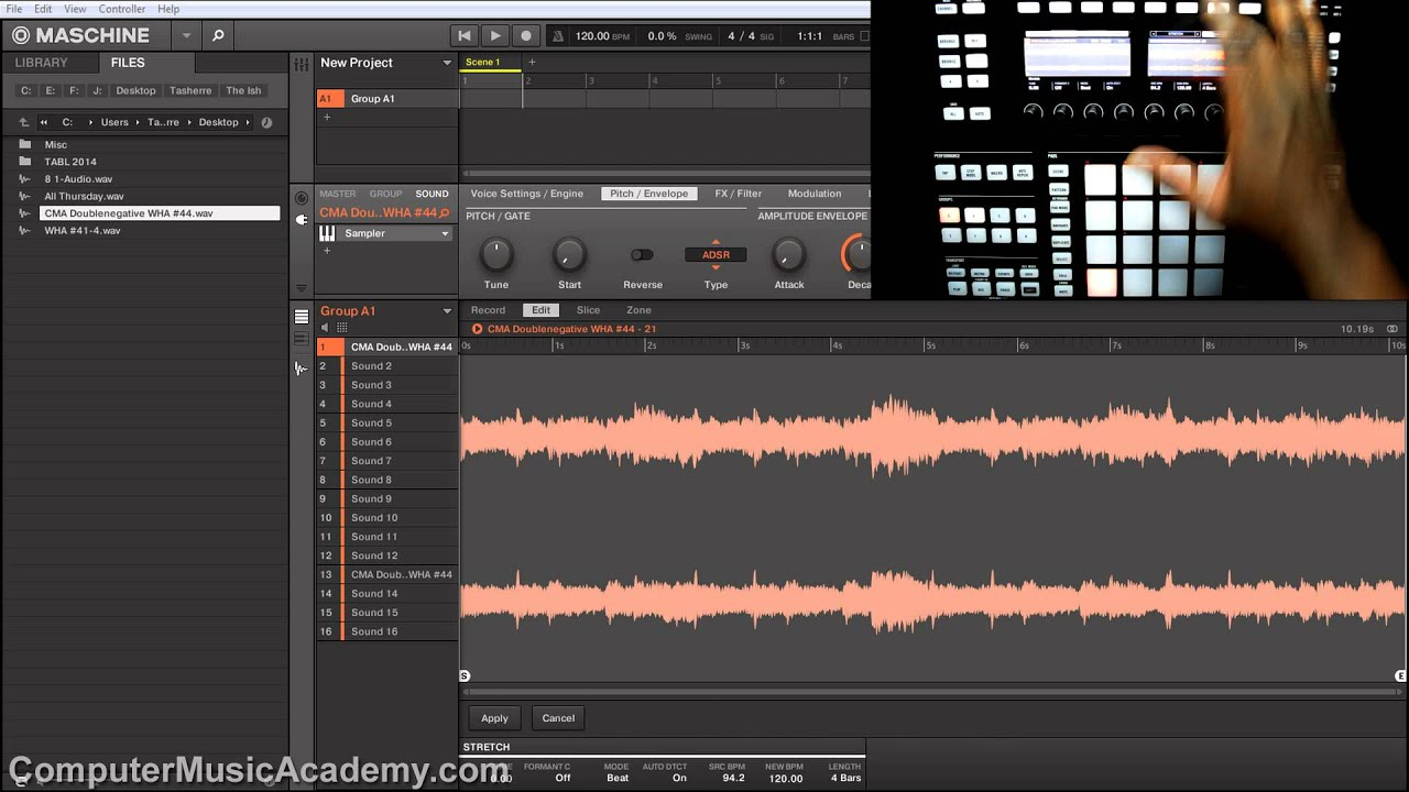 pitching samples in maschine time stretch answers computer music academy