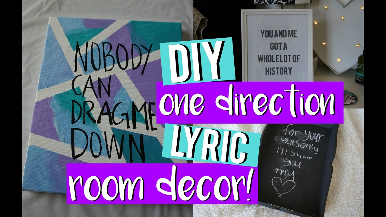 Diy One Direction Wall Decor : Diy one direction lyric room decor midoriyukidawn