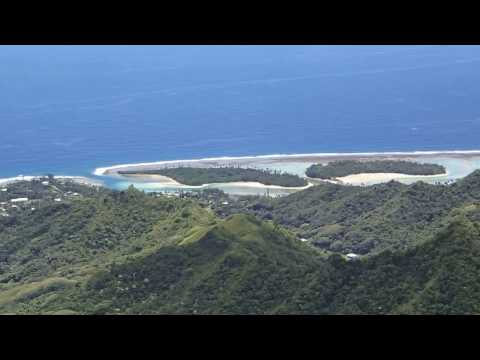 Te Manga panorama, the top of Rarotonga, Cook Islands