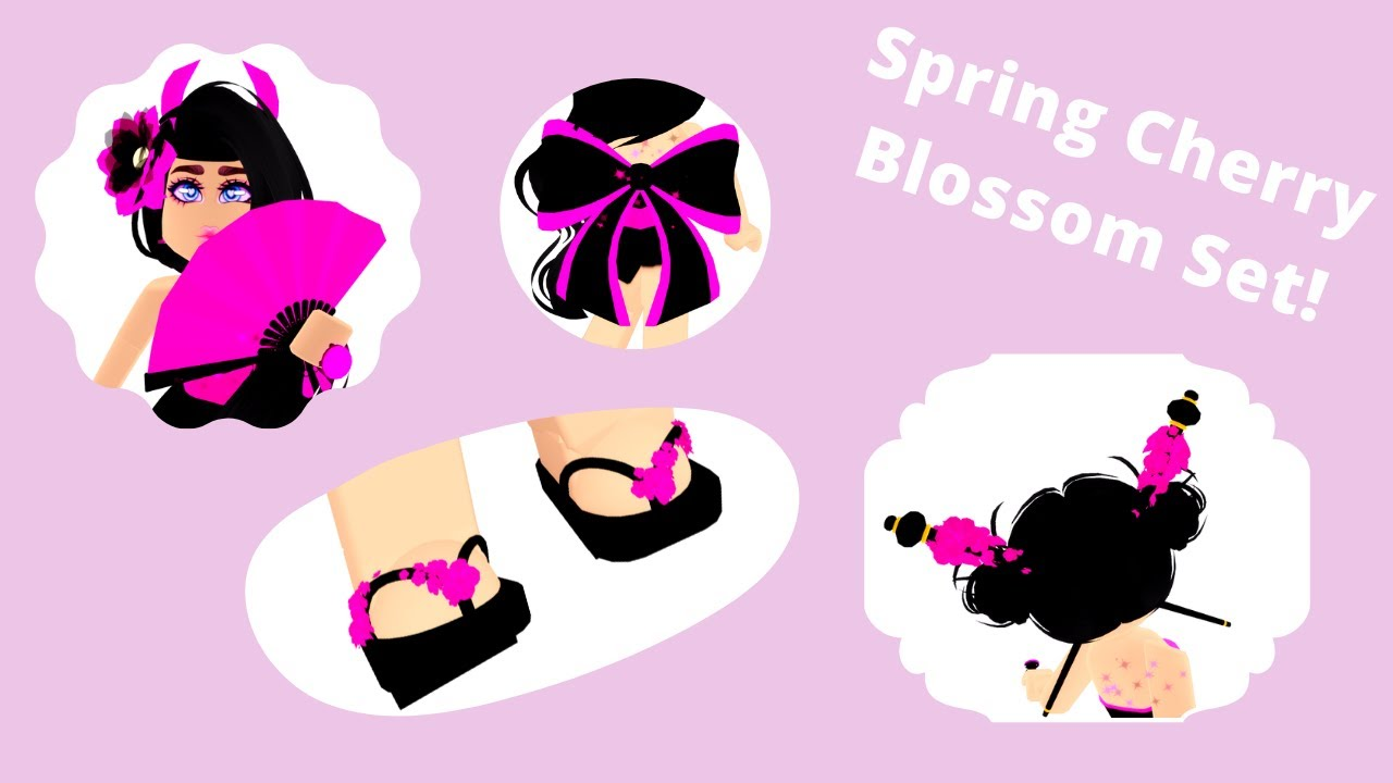 New Spring Cherry Blossom Set Royale High Roblox Youtube