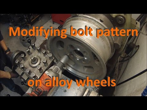 Modifying bolt pattern on alloy wheels