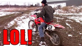 JACK CRACK FIRST TIME ON 450 DIRT BIKE