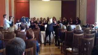NI MIlitary Wives Choir Perform at Stormont
