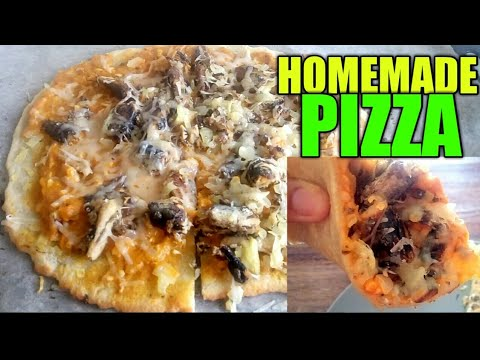 QUICK AND EASY (NO YEAST AND BAKING POWDER) HOME MADE PIZZA