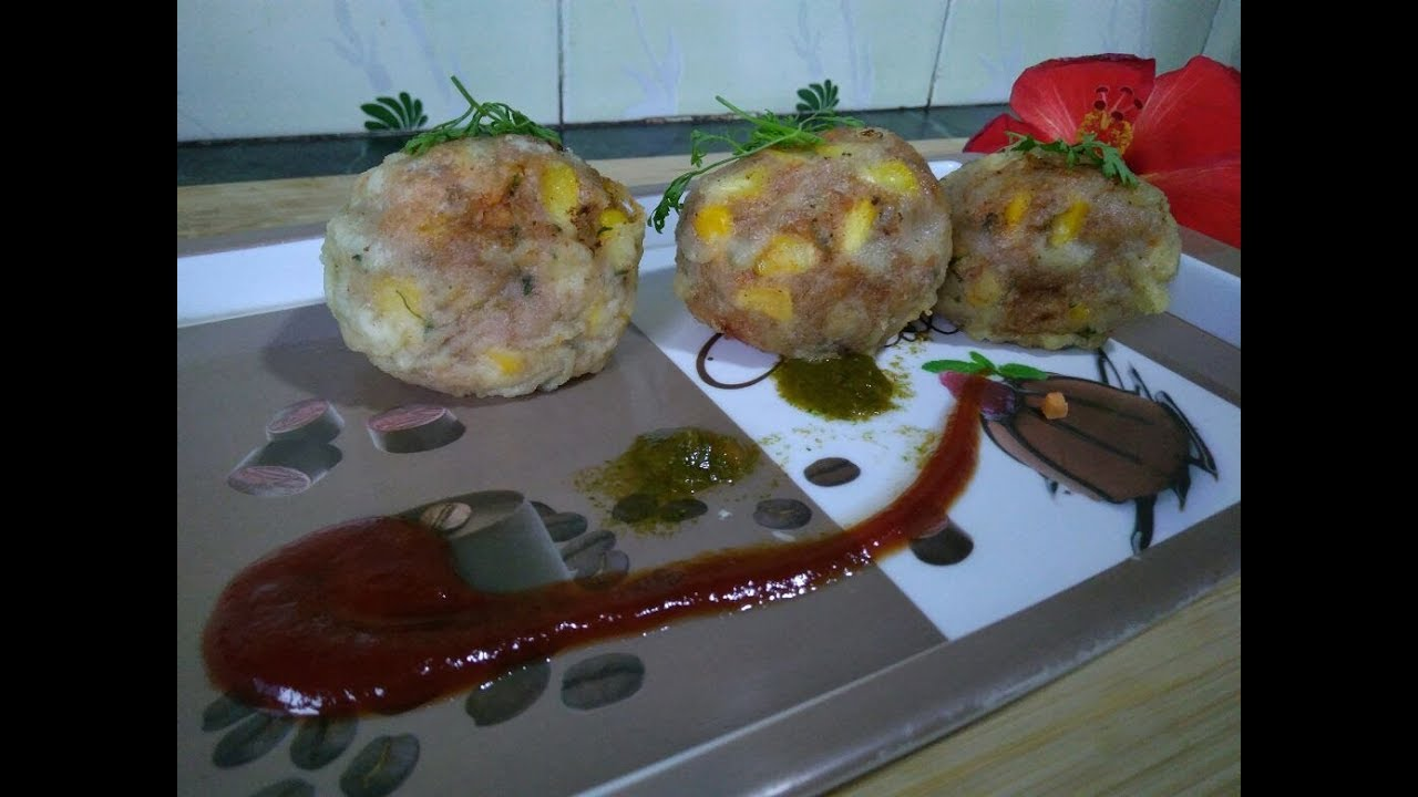 How To Make Easy Cheese Corn Balls Corn Cheese Balls Recipe Corn Cheese Cutlet