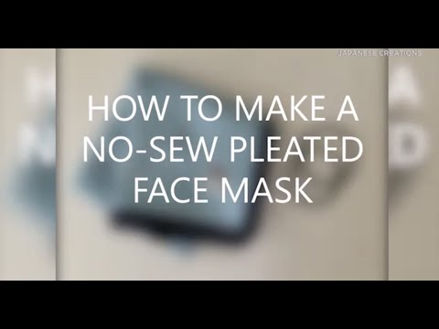 How to make an easy, no-sew face mask