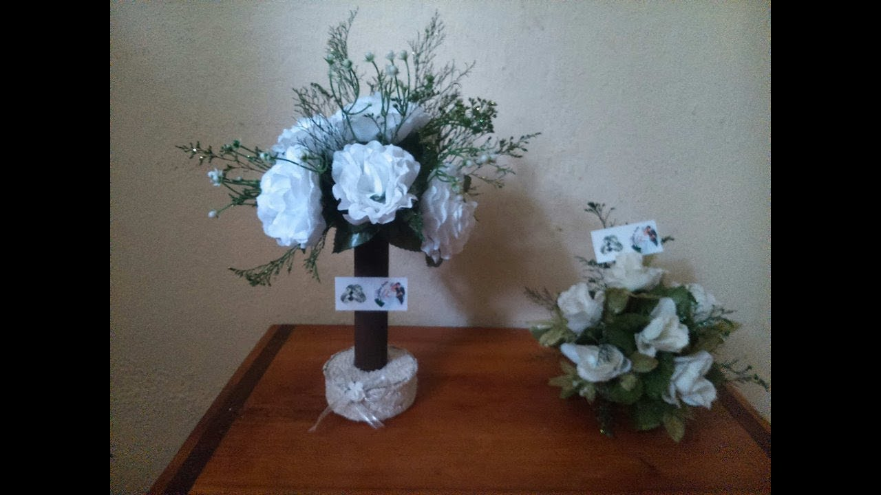 Como hacer centros de mesa para boda sencillos y bonitos - Centros de mesa boda ...