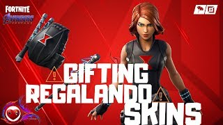 🤖 Fortnite Giveaway (Regalando) Black Widow Skin 🤖 Creator: morusitos Let's PLay 🤩 [ESP] [ENG]