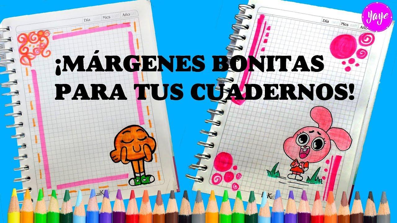 Ideas De MÁrgenes Para Decorar Cuadernos Y Libretas: IDEAS PARA HERMOSAS MÁRGENES DE CUADERNOS-Cómo Dibujar