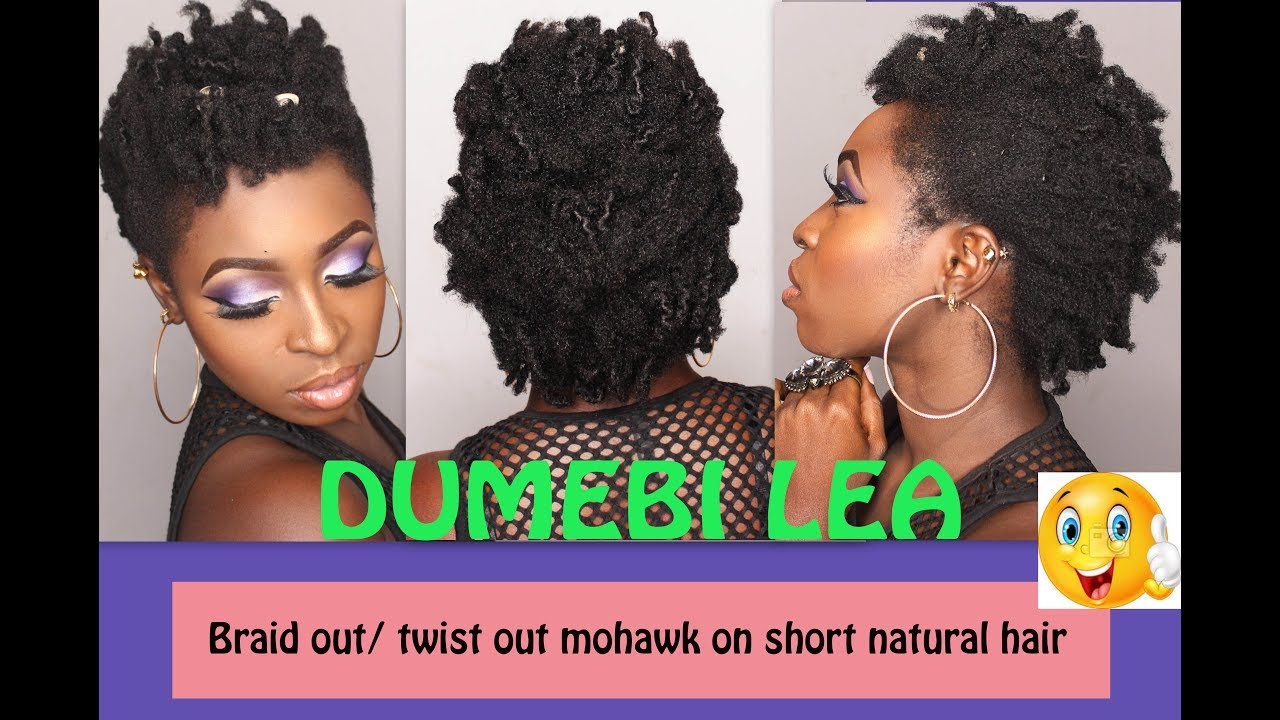 Braid Out And Twist Out Mohawk On Short Natural Hair African Naturalistas