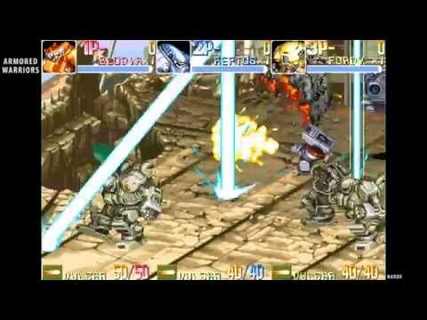 Armored Warriors / opening intro & auto demo / arcade beat em up 1994