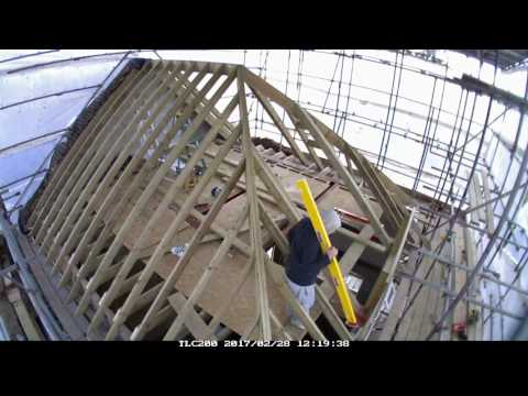 Hip roof construction