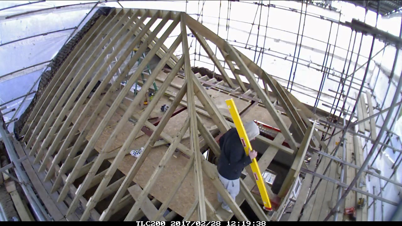 Hip Roof Construction Youtube