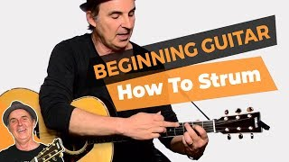 Strumming Guitar and Changing Chords | Lesson #9 Beginner Guitar for Grownups