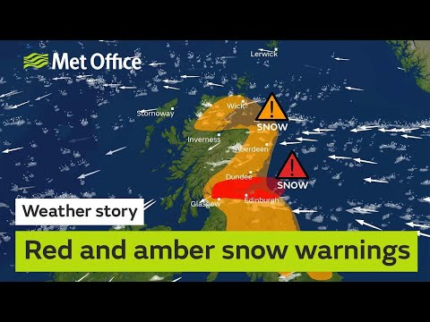 Red And Amber Snow Warnings
