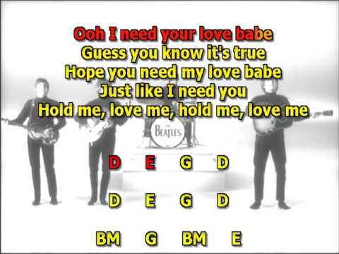 Eight days a week Beatles best karaoke instrumental lyrics chords