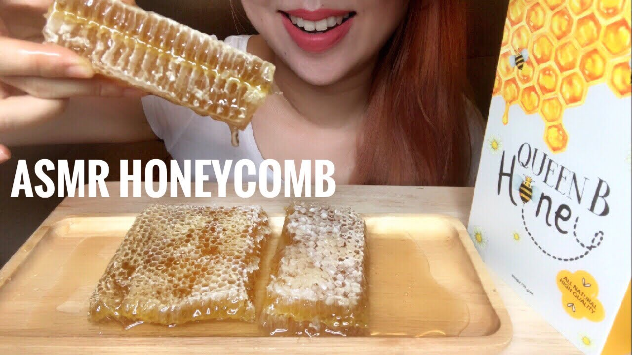 Asmr Raw Honeycomb Sticky Eating Sounds No Talking
