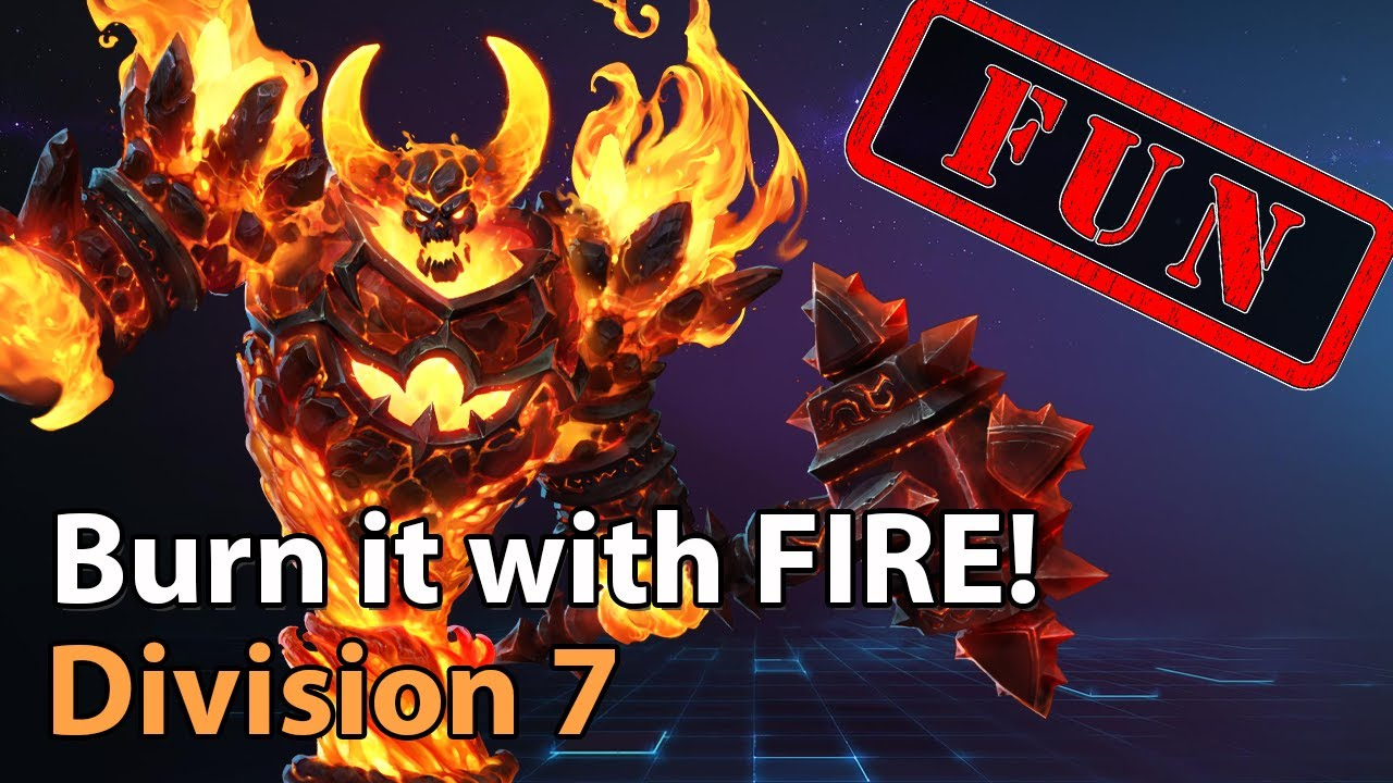 ► Burn it with FIRE! -  Division 1 - Heroes of the Storm Amateur Play