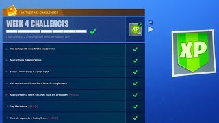 WEEK 4 CHALLENGES LEAKED! (Fortnite: Battle Royale) [GUIDE]