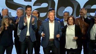 Juan Schiaretti festejó su triunfo en Córdoba al ritmo del cuarteto