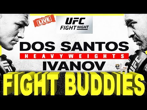🔴UFC FIGHT NIGHT 133 DOS SANTOS VS IVANOV & NORTHCUTT VS OTTOW LIVE FIGHT REACTION!