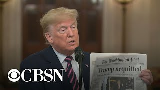 Trump lashes out in speech after impeachment acquittal