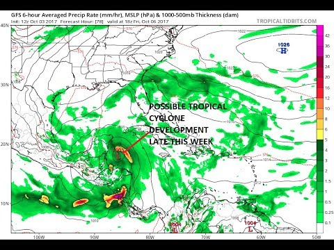 TROPICAL CYCLONE FORMATION IN CARIBBEAN GROWING MORE LIKELY, COULD IMPACT LONG RANGE US PATTERN