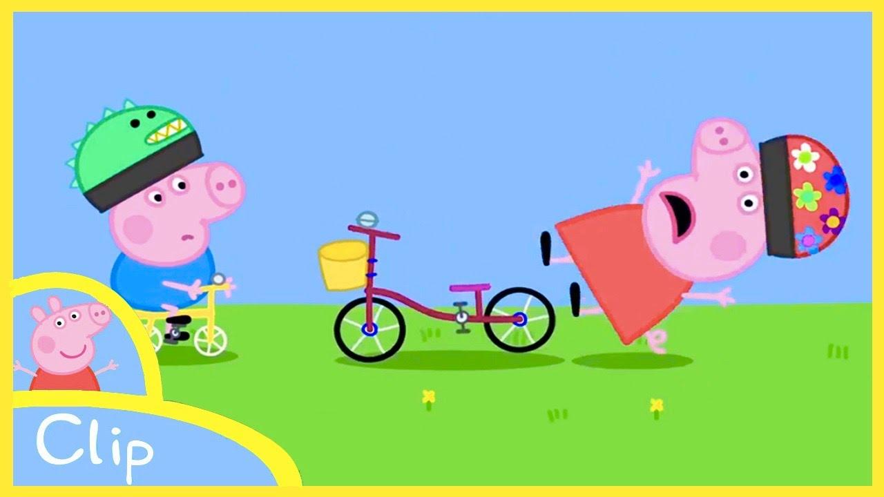 Peppa Pig Cartoon Peppa Fell Off The Bicycle Clip