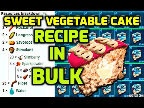 How to make sweet veggie cake in bulk ark survival evolved youtube how to make sweet veggie cake in bulk ark survival evolved forumfinder