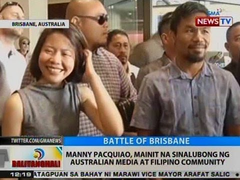 BT: Manny Pacquiao, mainit na sinalubong ng Australian media at Filipino community