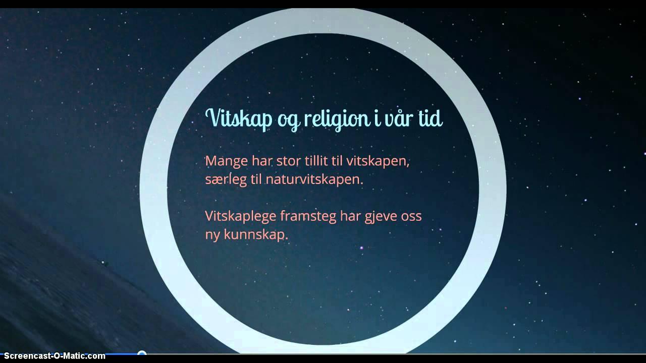 RELIGION OG VITENSKAP