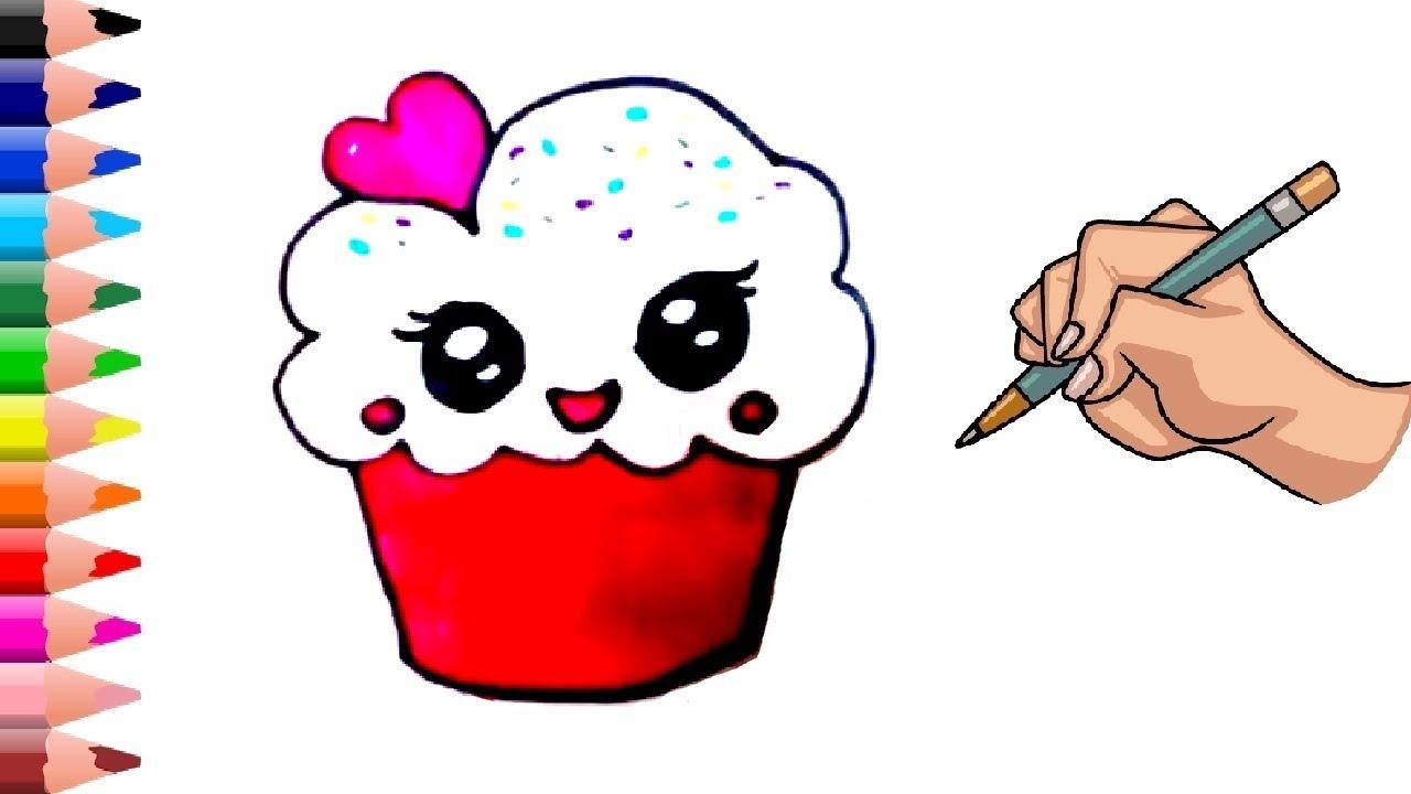 1 Dakika Da Cupcake Cizimi Cupcake Nasil Cizilir Cok Kolay