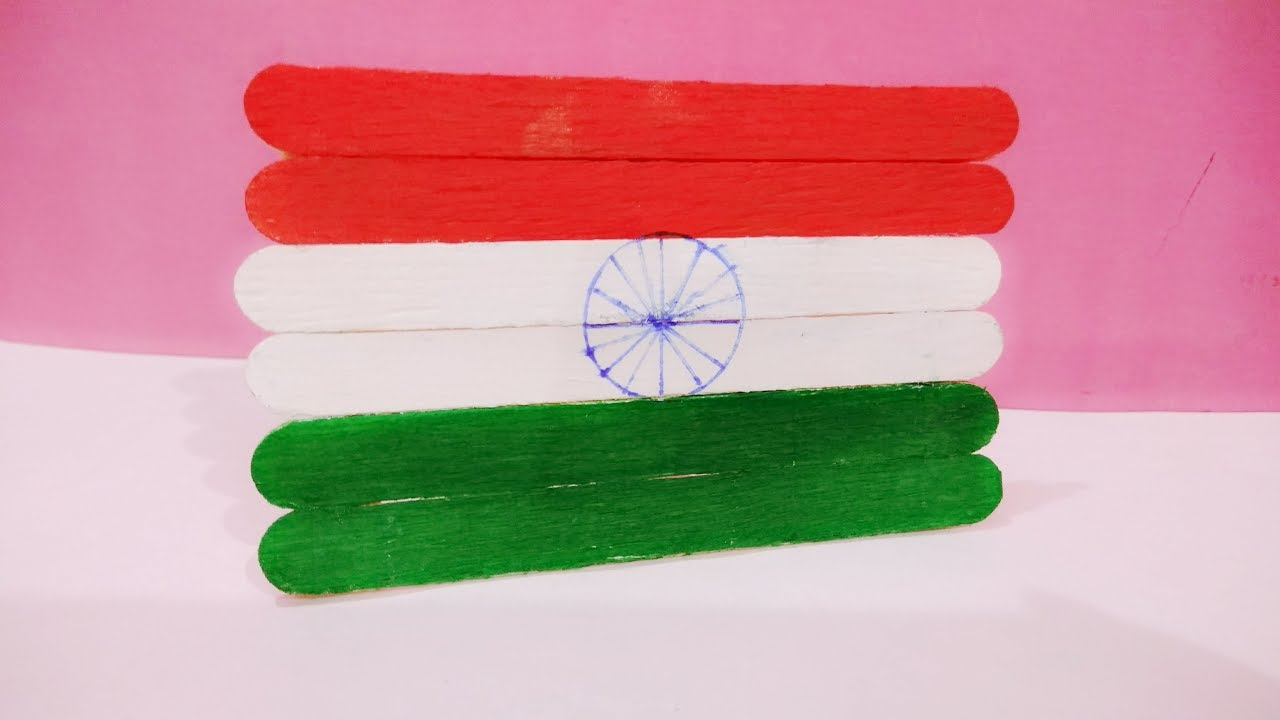Craft For Flag Of India: Independence Day Craft