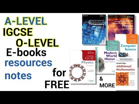 How To Download IGCSE/A-level E-books For Free PDF | 2018