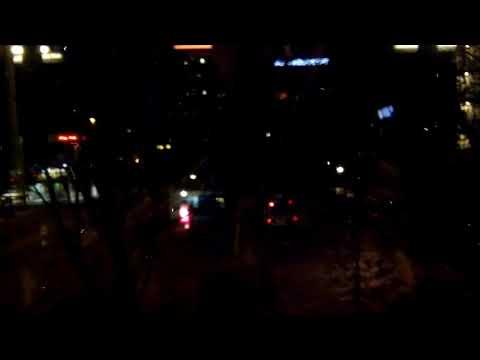 Rotterdam Alexandrium in het donker.