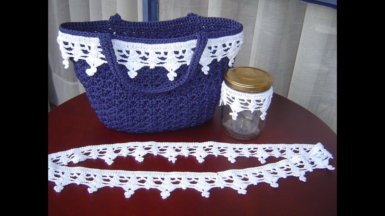Encaje tejido a crochet paso a paso DIY - YouTube