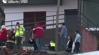 Авария с участием туристического автобуса на Мадейре