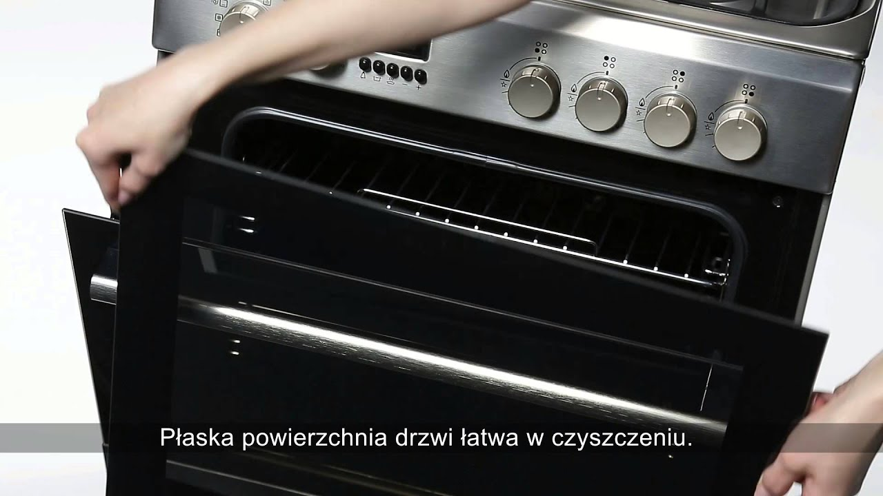 Kuchnie Hotpoint Latwe Czyszczenie Szyby Piekarnika Youtube