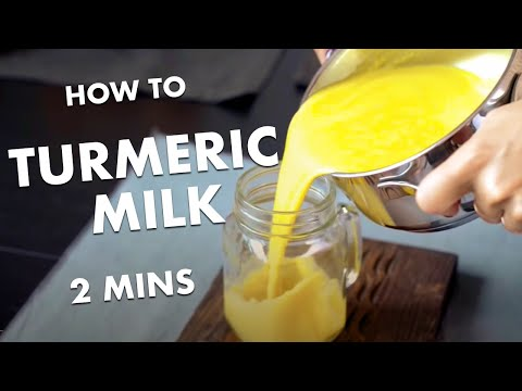TURMERIC MILK - delicious dairy free GOLDEN MILK