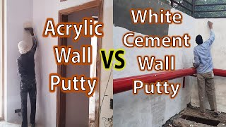 Acrylic Wall Putty vs Cement Putty - Which is Better - Price