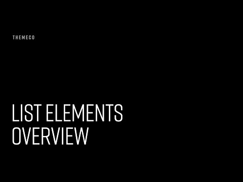 List Elements Overview
