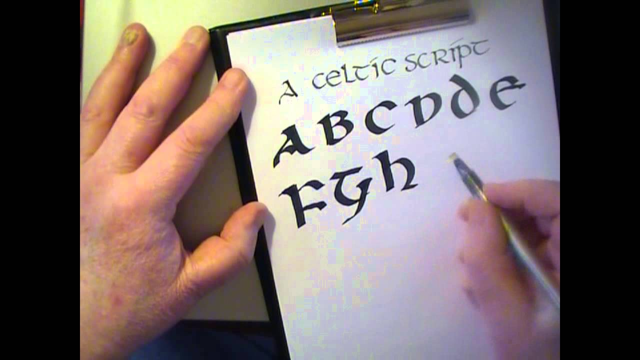 Calligraphy - A Celtic Script (Uncial Letters) by Yirdy Machar