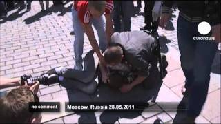 Clashes at gay parade in Moscow - no comment