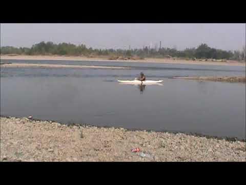 Kayak fishing on the YellowStone River