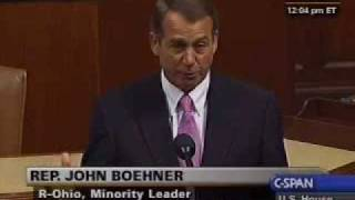 Boehner on Health Care: There is No Way to Hide From This Vote
