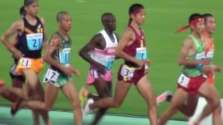 陸上競技 男子5000m走 予選 インターハイの熱戦をネットでLIVE中継!選...
